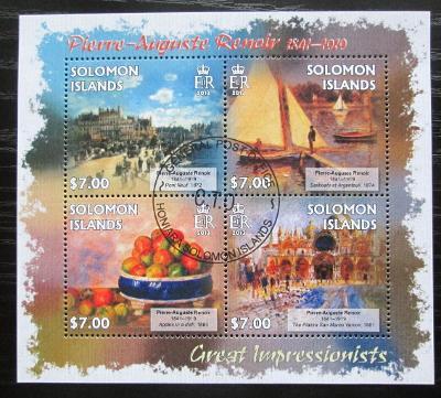 Šalamounovy ostrovy 2013 Umění, Renoir Mi# 1721-24 Kat 9.50€ 1920