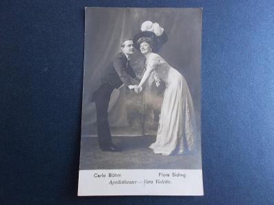 Umělecká pohlednice žena herečka Siding Böhn divadlo Apollo Violletta