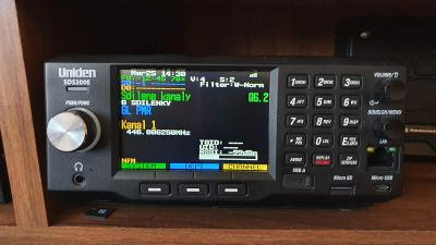 Uniden SDS200E, digitální scanner 25-512/806-960/1240-1300 MHz, záruka