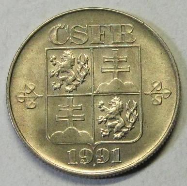 1 KORUNA1991 KRÁSNÝ STAV