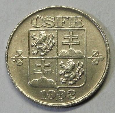 1 KORUNA1992 KRÁSNÝ STAV