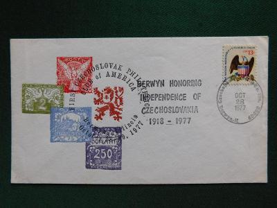 Dopis - 1977 - ČSSR - USA - Filatelie