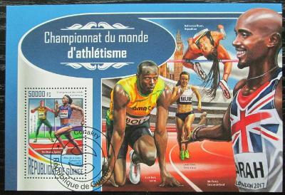 Guinea 2017 MS v lehlé atletice Mi# Block 2848 Kat 20€ 1922