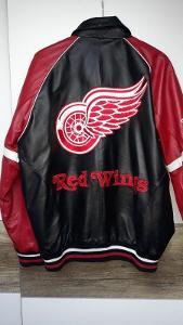 Kožená bunda originál vel. L Detroit Red Wings 2008
