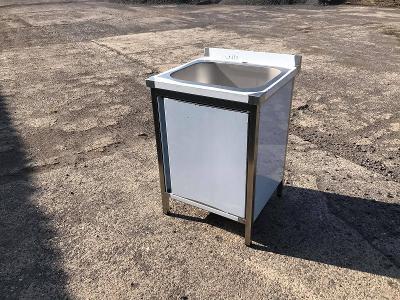 Nerezový dřez se skříňkou 60x60x85cm - lisovaný větší