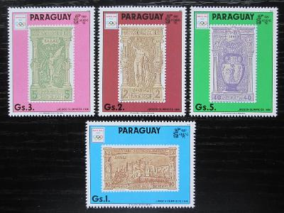 Paraguay 1990 LOH Barcelona Mi# 4445-48 Kat 6€ 1925