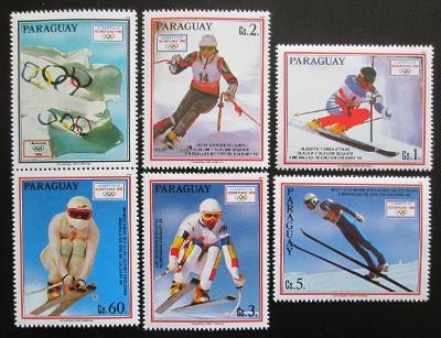 Paraguay 1990 ZOH Albertville s kupónem Mi# 4471-75 Kat 8€ 1925