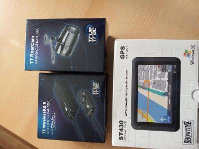 sada: parkovací kamera, bezdrátový balíček, GPS