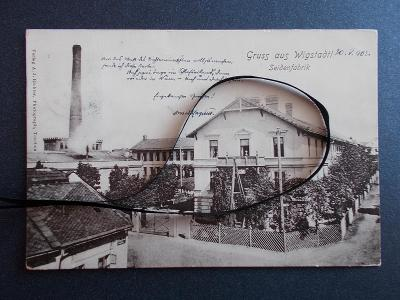 Opava Vítkov  Wigstadtl  Slezsko Sudety tkalcovna hedvábí továrna RAR