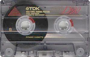 Audio Kazeta TDK D 60 TDK D 90 TDK D 100 Kolekce 10ks MC