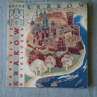 Reklamní prospekt a průvodce Krakow, Polsko, česky - rok 1949, od 1,-