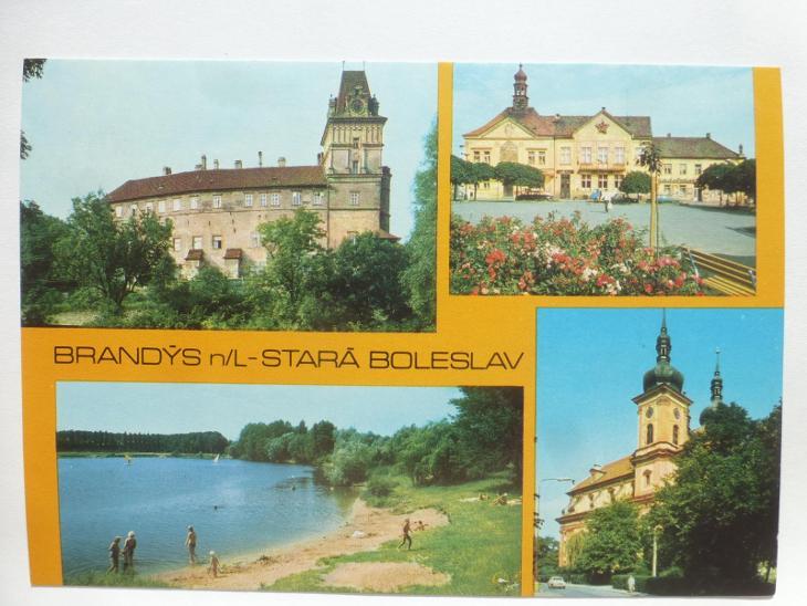 Brandýs nad Labem - Stará Boleslav - koupání - Pohlednice
