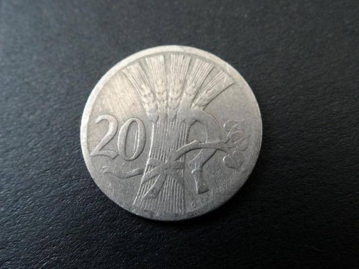 20 haléř 1927 - Numismatika