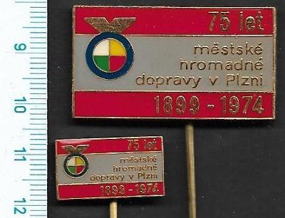 Odznak - 75 let MHD v Plzni 1974/FA-VK.141