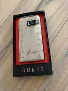 Pouzdro/flap case GUESS béžové pro GALAXY S5