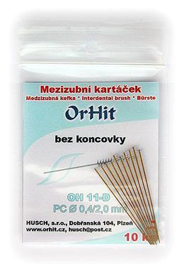 Mezizubní kartáčky OrHit, bez koncovky na dlouhém drátku OH11-D