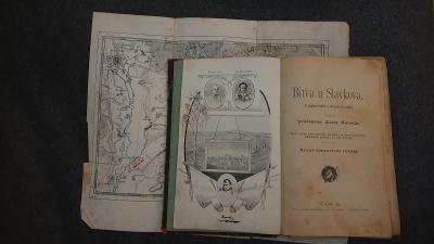 Bitva u Slavkova s mapkou bojiště a obrazem tří císařů 1898-A.Slovák
