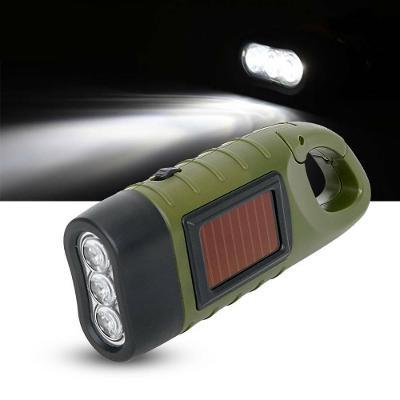 Baterka - Solární + Dynamo, Kvalitní zpracování, nabíjecí baterie 3LED