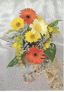 květiny gerbery korálky GIPA 4-978°°