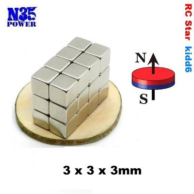 Neodymový magnet 3x3x3mm