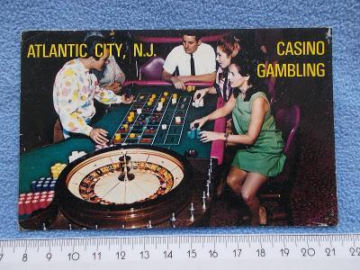Pohlednice Amerika New York Casino kasino ruleta hra hazard filatelie
