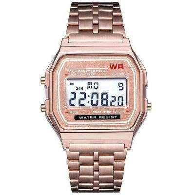Retro digitálky legendární digitální hodinky růžové