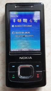 Mobil NOKIA 6500 slide black - RARITA pro sběratele, funkční