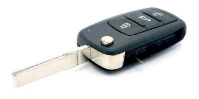 KLÍČ  Volkswagen, škoda, seat, 3  tlačítka používaný od roku 2007