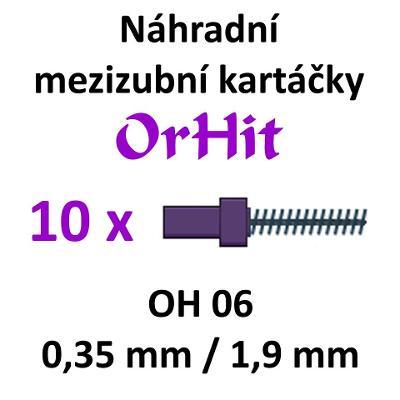 Náhradní mezizubní kartáčky OrHit, 10 kusů, OH06 fialové
