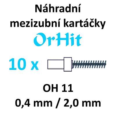 Náhradní mezizubní kartáčky OrHit, 10 kusů, OH11 bílé