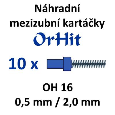 Náhradní mezizubní kartáčky OrHit, 10 kusů, OH16 modré