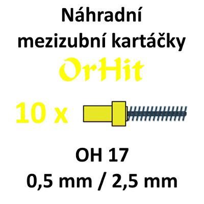 Náhradní mezizubní kartáčky OrHit, 10 kusů, OH17 žluté