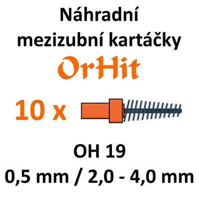 Náhradní mezizubní kartáčky OrHit, 10 kusů, OH19 oranžové kužel