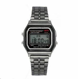 Retro digitálky legendární digitální hodinky šedé