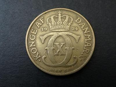 2 kroner 1924 - Dánsko