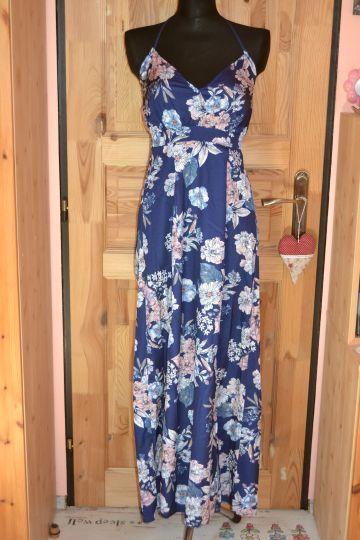 Krásné dlouhé lehoučké květ. šaty Parisian, vel. 38