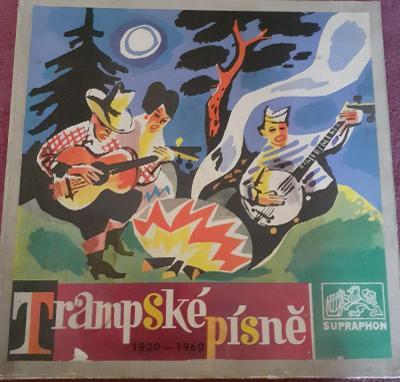 LP-Trampské písně 1920-1960 (2LP box + příloha 1969) / Perfektní stav!