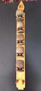 Dekorace dřevěné kalíšky se stojánkem na zavěšení