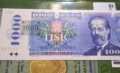 1000 korún 1985 séria U kolok .  Top stav  UNC.
