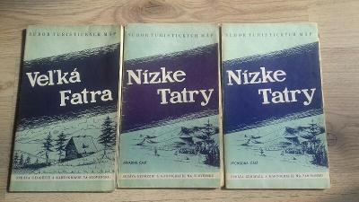 Tři turistické mapy Slovensko 1957-1958