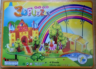 3D puzzle zámek s princeznama