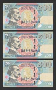 200 zlatých Josef Mánes, J01+M01+CH01, charitativní projekt, stav N