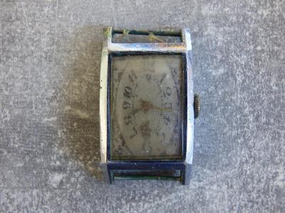 Árt-déco=obdelníčkové polofunkční pánské náramkáče, nošený, používaný,