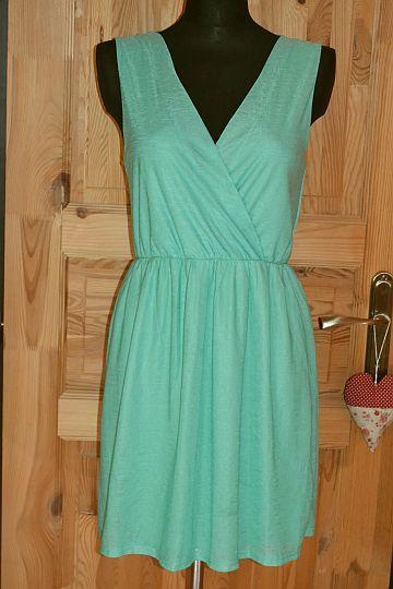 Pěkné zelené šaty Casual, vel. M