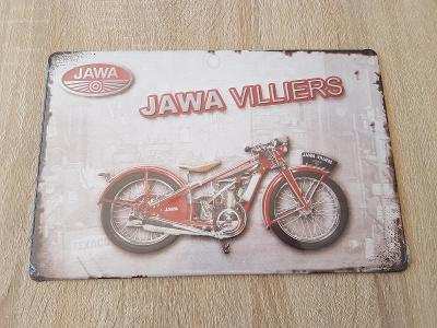 Plechová cedule Jawa Villiers 175